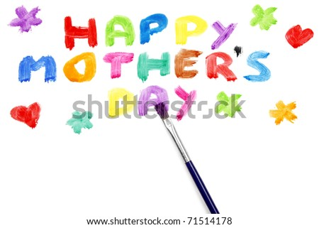 Happy mother?s day on white background