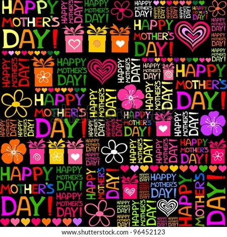 Happy Mother's Day! Seamless pattern. Illustration