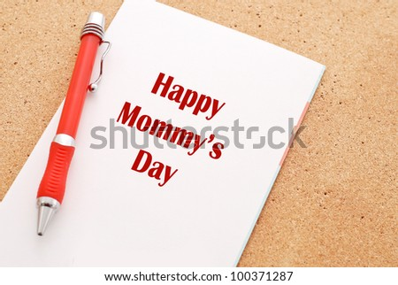 Happy Mothers Day Caption on White Greeting Card