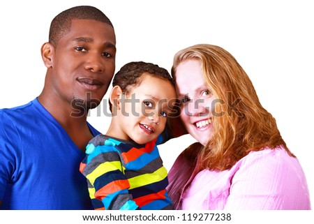 Happy multicultural family