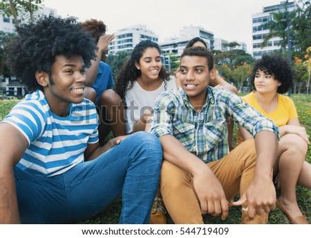 happy multiethnic group of...