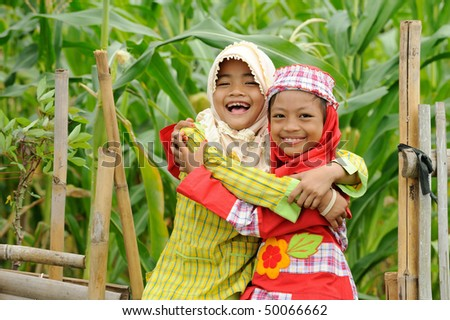 Happy Muslim kids