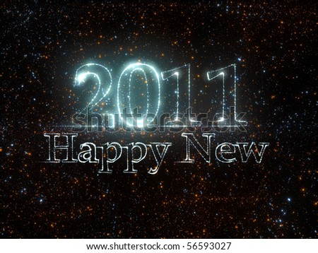 Happy New 2011 from stars