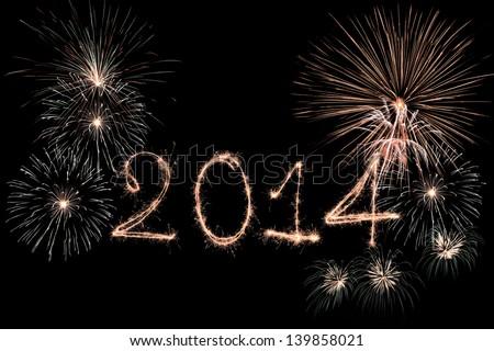 Happy New Year - 2014 - stock photo