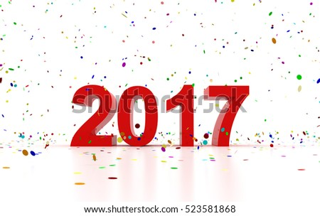 Happy New Year 2017 #523581868