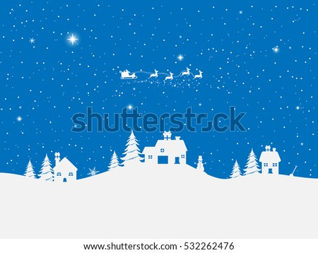 Happy New Year and Merry Christmas blue background.Holiday blue background.