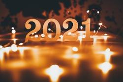 Happy new year 2021 background.