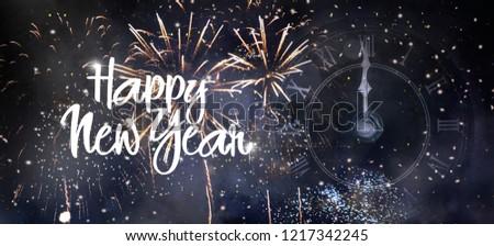 Happy New Year 2019 background #1217342245