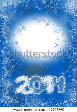 Happy New Year 2014 background image