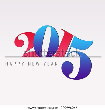 happy new year 2015 background with colorful letters