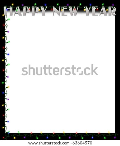 Happy New Year Border Background Illustration - 63604570 ...