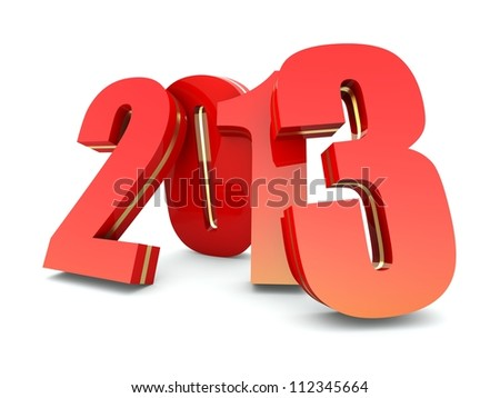 Happy New Year 2013 calendar background