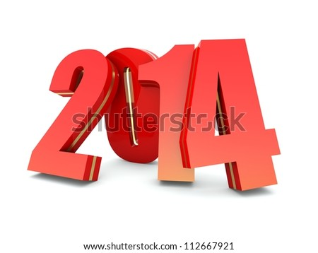 Happy New Year 2014 calendar background - stock photo