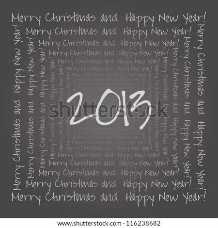 Happy New Year card or background.