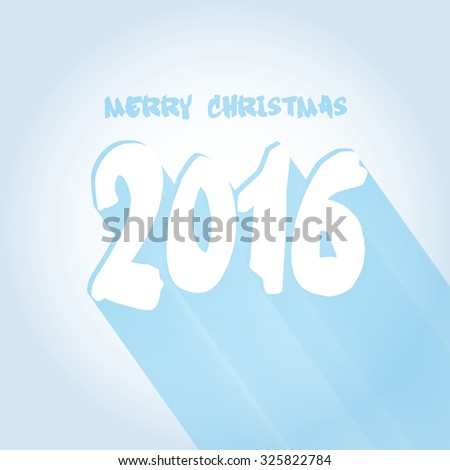 happy new year card 2016 simple stock illustration