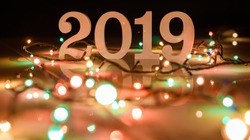 Happy new year 2019, Christmas and New Year background