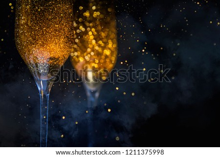 Happy New Year 2019! Christmas and New Year holidays background, winter season.  - Shutterstock ID 1211375998