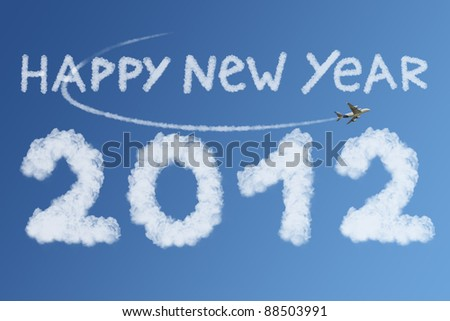 Happy New Year 2012 (clouds concept)