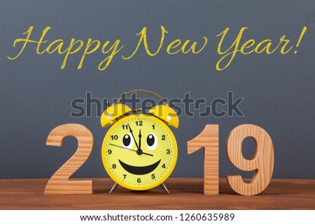 Happy new year concepts 2019 countdown clock #1260635989