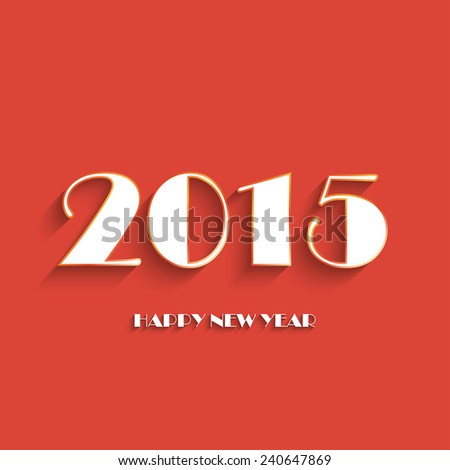 Happy new year 2015 creative greeting card logos design in red and happy new year 2015 creative greeting card logos design in red and white color flat m4hsunfo