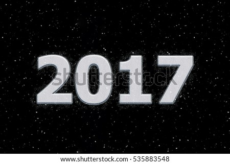 Happy New Year 2017 design with snow. #535883548