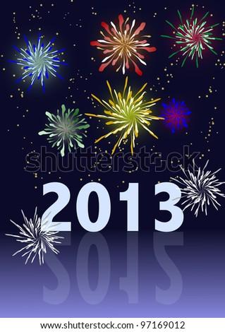 Happy New Year - fireworks - 2013