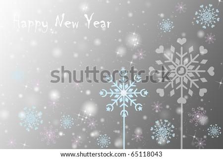 Happy New Year Greeting card. Beautiful Shiny background