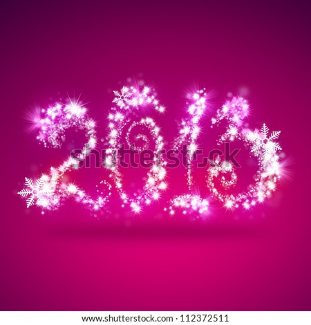 Happy New Year 2013 Greeting Card Template