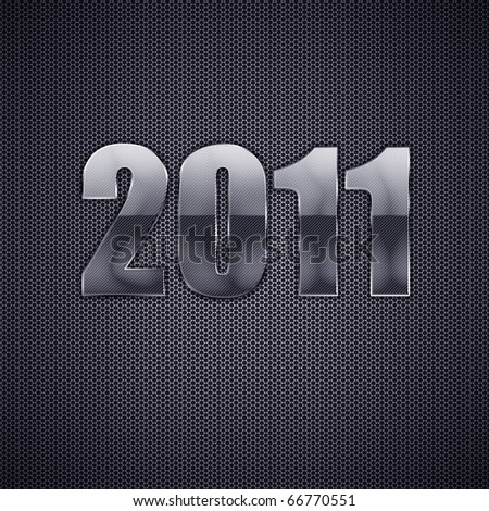 Happy new year 2011. High resolution 3d illustration. Calendar.