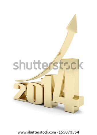 happy new year 2014 Illustrations 3d on a white background #155073554
