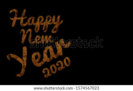 Happy New Year 2020 Image with Copy Space For Texts Writing #1574567023