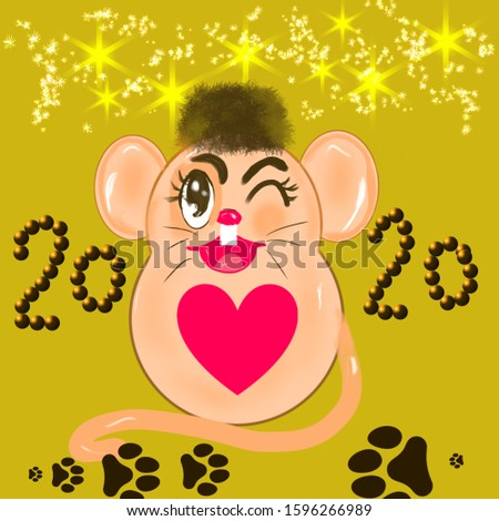 happy new year,mouse year 2020