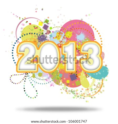 Happy new year 2013 ,new year card
