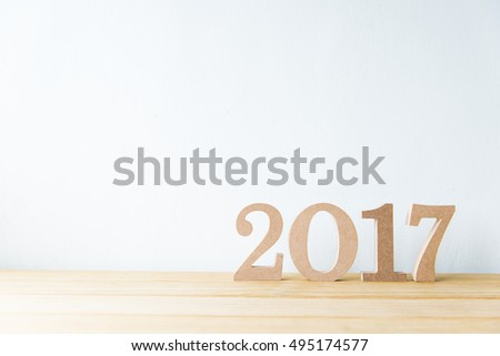 Happy New Year 2017 on a white background #495174577