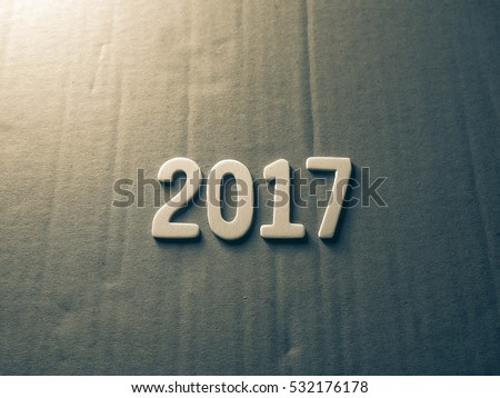 happy new year 2017 on packing paper #532176178