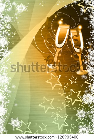 Happy new year poster background with space