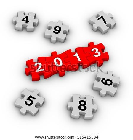 Happy New Year 2013 puzzles