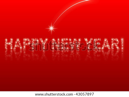 Happy new year-red background
