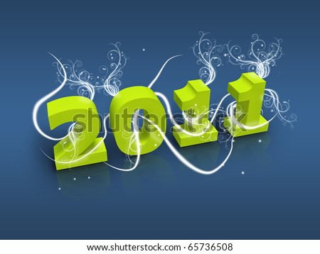 Cards For New Year 2011. stock photo : Happy new year