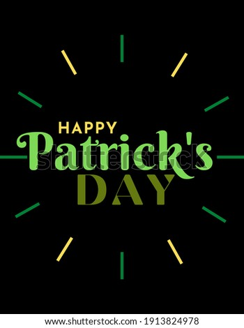 happy Patrick's day cultural and religious celebration held on 17 March... Foto stock ©