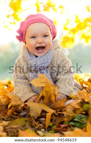 happy playful child outdoors