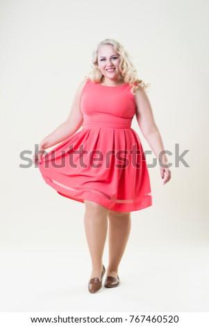 Sexy blond chubby teen