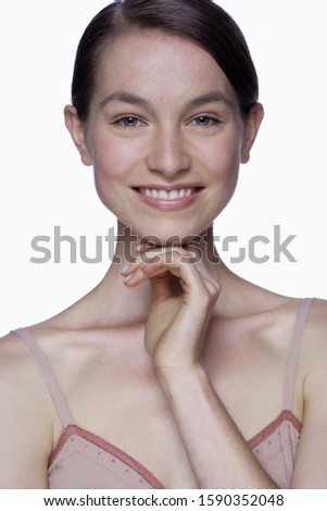 Happy portrait of young woman