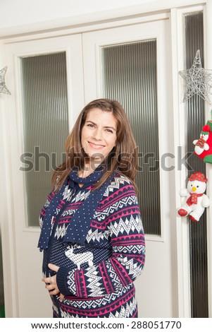 Happy pregnant