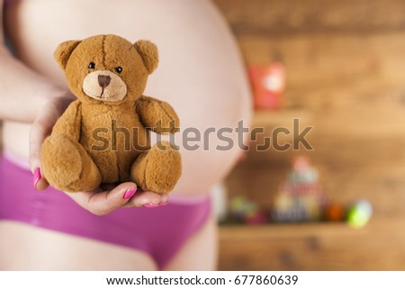Happy pregnant woman