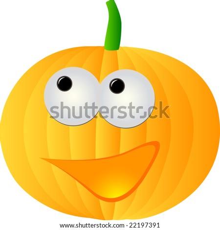 happy pumpkin illustration