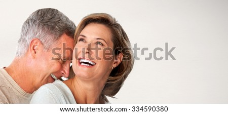 Shutterstock Happy senior couple faces. Elderly man and woman in love.