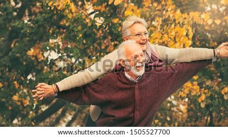 Happy senior couple having fun. Having fun at any age