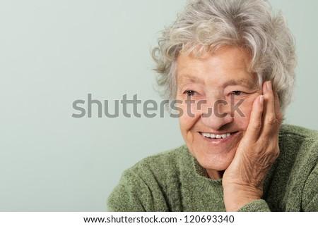Happy senior portrait
