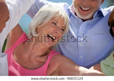 Happy senior woman #48831124